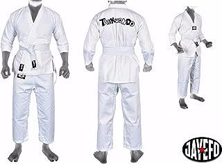 New Item Martial Arts Tae Kwon do White V-Neck Uniform Dobok Tae Kwon Do Free Belt