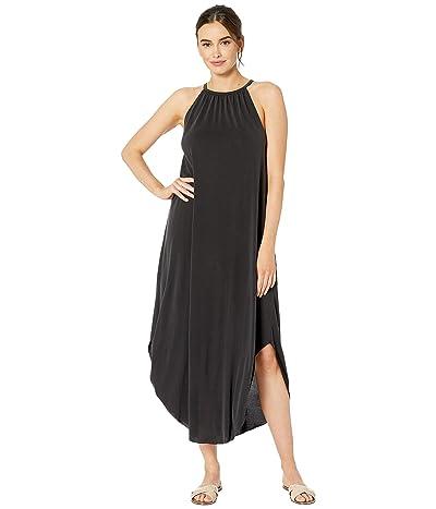 American Rose Grace Halter Midi Dress (Black) Women