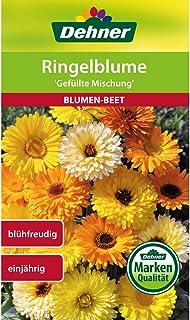 Dehner Blumen-Saatgut, Ringelblume, Gefüllte Mischung,5er pack 5 x 2.5 g