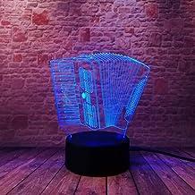 LXXYD 3D Visual Light Optical Illusion Led Night Light - Accordion 3D Light Colorful Touch Led Visual Light 3D Desk Bedroo...