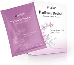Nallah Radiance Revive Orchid Stem Cell Facial Sheet Mask | All Natural Antioxidant | Brightening, Tightening & Hydrating Gift Set | 5 Pack