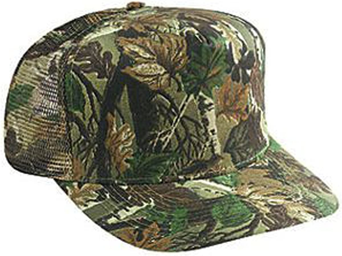 OTTO Cap Camouflage 5 Panel Mid Hat Cott Back Trucker Houston Mall At the price of surprise Mesh Crown