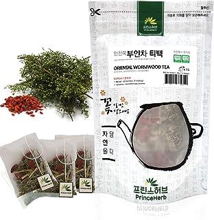 [Medicinal Korean Herb Tea] 100% Natural Oriental Wormwood Tea ( Lycii Fructus & Oriental Wormwood ) / 쑥 티백 차 40g ( 15 tea...
