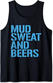 Mud Sweat and Beers Blue Tank Top