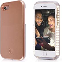 iPhone 5/5S/SE Selfie Phone Case,LNtech Rechargeable LED Light Up Flash Lighting Selfie Case Illuminated Cover (Rose gold, iPhone5/5S/SE)