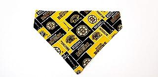 BOS Bruins Hockey Pet No-Tie Dog Bandana Slip On Over the Collar