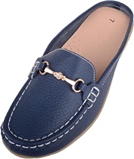 Absolute Footwear Womens Slip On Mule Style Leather Summer/Holiday Casual Sandals/Shoes
