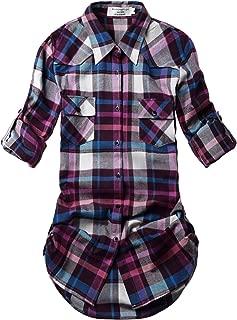 Best purple plaid shirt womens Reviews