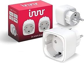 Innr Smart Plug, compatibel met Philips Hue*, Alexa & Hey Google (bridge vereist) slimme stekker, 2300W, 10A, 2-Pack, SP 2...