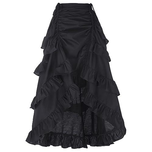 Belle Poque Women's Gothic Steampunk Vintage Cotton Skirts Gypsy Hippie GF222