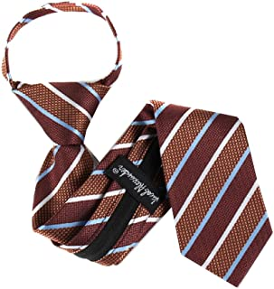 Jacob Alexander Boys Designer Pattern Zipper Necktie