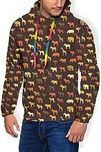 Men's Long Sleeves Hoodies Plus Velvet Thick Sweatshirts Fit Streetwear