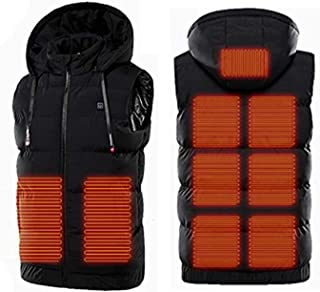 Electric Heated Vest for Man/Woman,Double Switch Adjustable USB Electric Heated Coat,9 Heating Zones, Washable,Heated Clot...