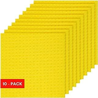 Sponge Cloth, Swedish Dishcloth, Cellulose, Reusable, 10-sponges in Pack.