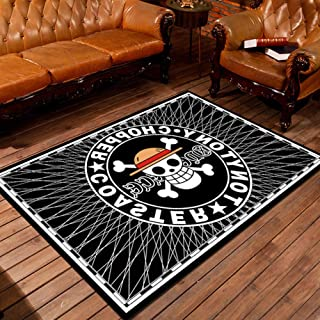 Périphérique Tapis One Piece The Groupe De Pirates Au Chapeau De Paille Drapeau Pirate Anime Cartoon Décor Rectangle Tapis...