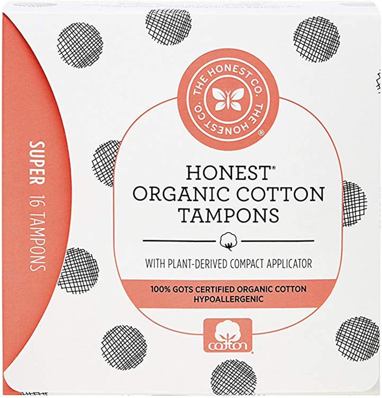 Over item handling Easy-to-use ☆ The Honest Company Organic Cotton Tampons Plant-Based Compa with