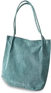Shoulder Bag Female High Capacity Women Corduroy Tote Ladies Bag Foldable