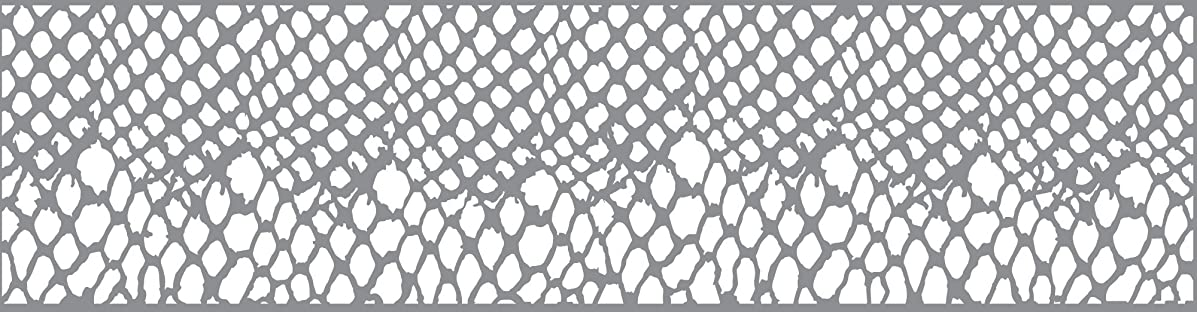 Andy Skinner Mixed Media Shedded Stencil, Grey, 12 x 3-Inch