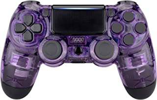 eXtremeRate® Transparent Crystal Clear Front Housing Shell Faceplate Cover for Playstation 4 PS4 Slim PS4 Pro Controller (...