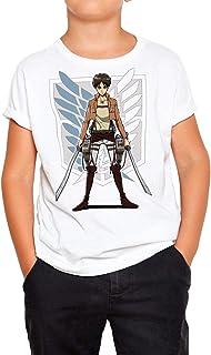 DibuNaif Camiseta Niño, Unisex - Ataque de los Titanes, Legión de Reconocimiento