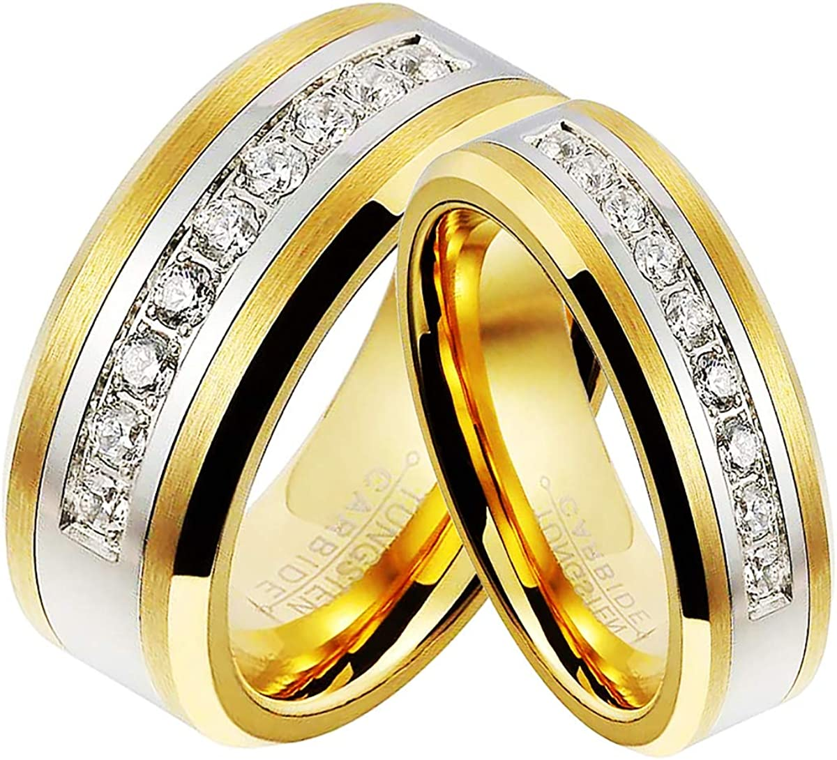 TIANYI 6 8mm Gold Plated Men Women sold out Ring Wedding Tungsten Carbide Max 49% OFF