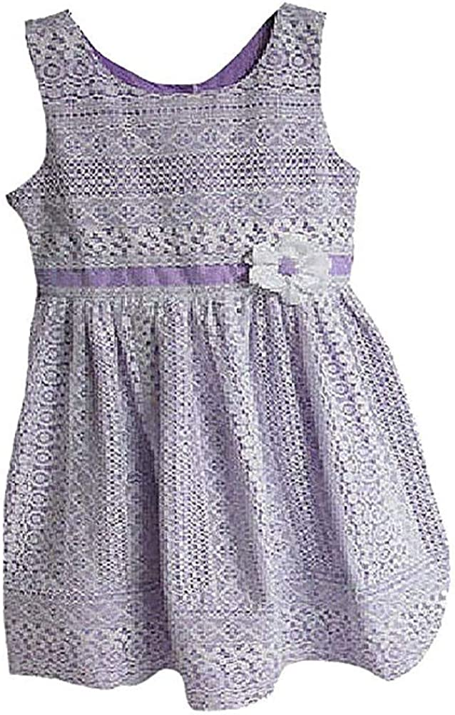 Jona Michelle Girls One Piece Dress, Lavender Lace, 3T