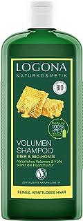 LOGONA Naturkosmetik Volumen Shampoo Bier & Bio-Honig, Verleiht feinem Haar..