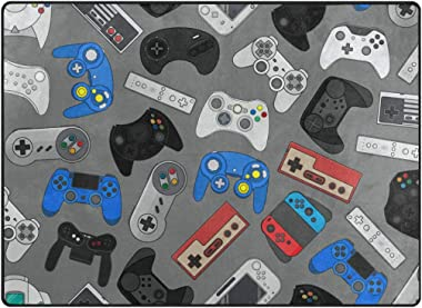Video Games Area Rug Game Room Carpet Rugs Area Rugs be Appropriate for Living Room and Playroom