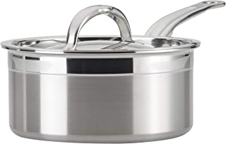 Hestan ProBond Collection Sauce Pan- 100% Triple Bonded Nonstick Stainless Steel, Ideal for Simmering Soups, Cooking Grain...