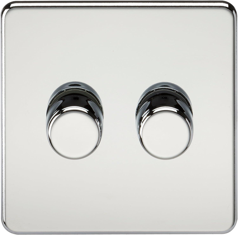 Knightsbridge sf2162pc schraubenlos 2 G 2 Way Dimmer Dimmer Dimmer 60–400 W Chrom poliert B00SMJX7VU | Marke  27e7c1