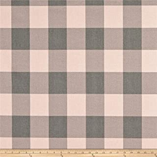 Premier Prints Buffalo Check Cotton Duck Blush Grey Fabric Fabric by the Yard