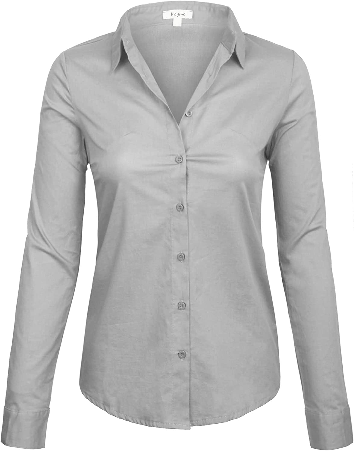 KOGMO Women's Classic Long Sleeve Color Solid Our shop most popular Nashville-Davidson Mall Down Simple Button