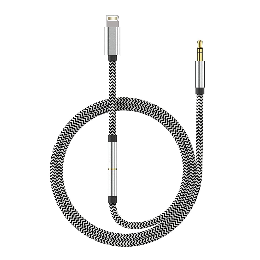[New Version] 3-in-1 Aux Cord for iPhone, Autynie 3.5mm Aux Cable Compatible with iPhone 7/X/8/8 Plus/XS Max/XR to Car Stereo/Speaker/Headphone Adapter, Support Newest iOS 11.4/12 Version or Above