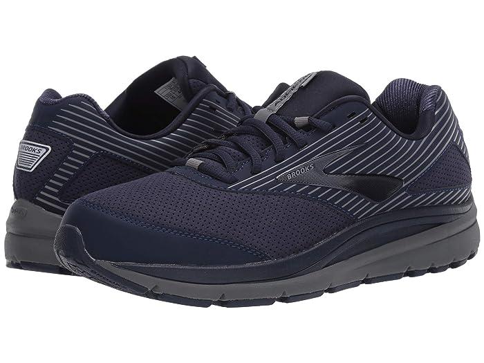 Brooks  Addiction Walker Suede (Peacoat/Shade/Peacoat) Mens Walking Shoes