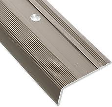 Traprandprofiel Glory | brons donker | L-vorm | inclusief anti-slip vinyl inlegzool | 17 mm hoogte | Verkrijgbaar in 4 kle...