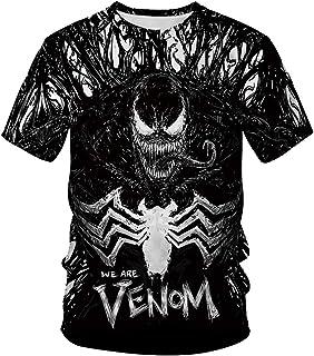 TAKUSHI HF Unisex 3D Print Creative Animal Short Sleeve T-Shirt Casual Graphic