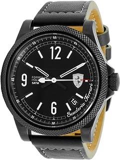 Ferrari Men's Black Dial Leather Band Watch - 830272