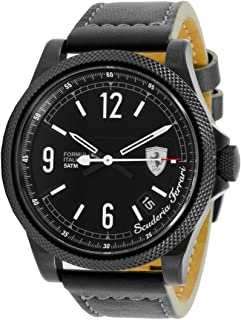 Ferrari Men's Black Dial Leather Band Watch - 830272
