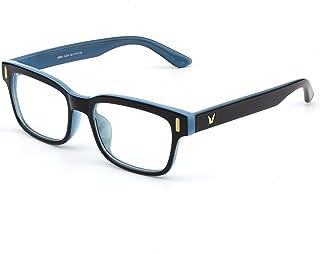 GQUEEN Mode moderne rectangulaire épais cadre clair lentille lunettes PE4