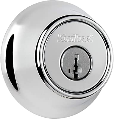 Kwikset 665-S Double Cylinder Deadbolt with SmartKey from the 660 Series, Polished Chrome