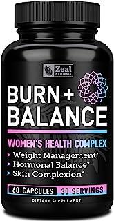 Weight Loss Pills for Women + Daily Balance Vitamins (Iron, Vitamin D, Setria®, Folate,+) Premium Diet Pills for Women + Womens Multivitamin with Iron, D & B Vitamins & Hormone Balance for Women