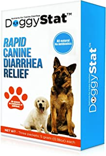 DoggyStat Dog Anti Diarrhea Supplement - Vet Tested, Fast-Acting Supplement That Relieves Diarrhea and Helps with Giardia ...