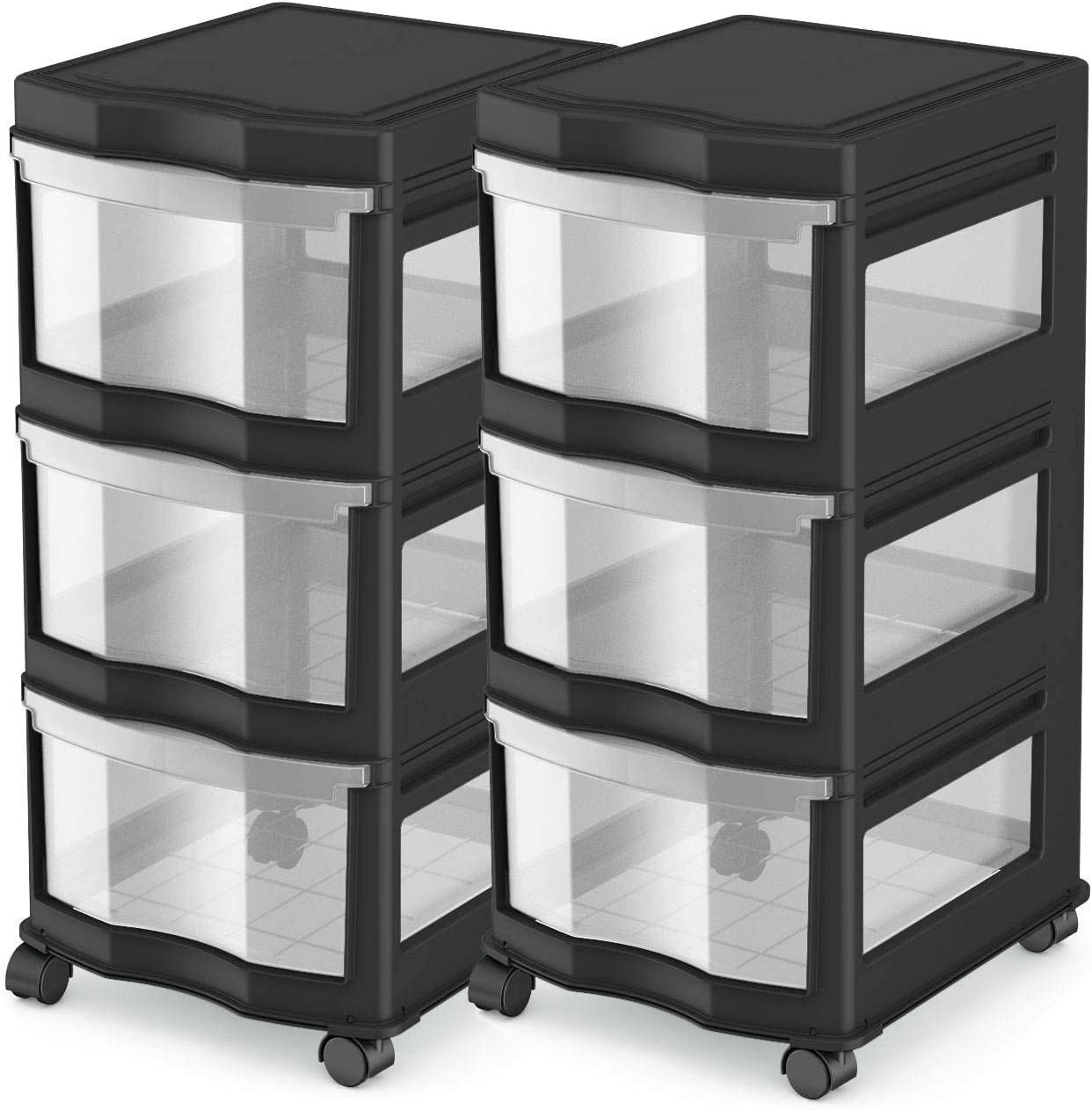 Life Story Classic 3 Shelf Storage Drawers Max 52% OFF Organizer Bl Plastic Regular store