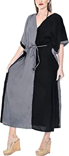 Women's Caftan Nightgown Lounge Dress Sleepwear Cover Ups Embroidered
