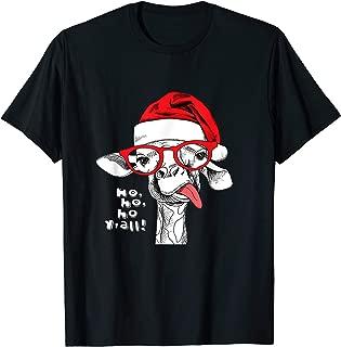 Funny Christmas Llama Santa Hat Xmas Llama Alpaca Gift T-Shirt