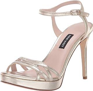 3279faa3b7c1 Nine West Women s Quicklime Metallic Heeled Sandal