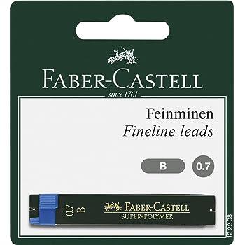 Faber-Castell 122298 - Feinmine Super Polymer, Härtegrad B, 0.7 mm, 24 Minen