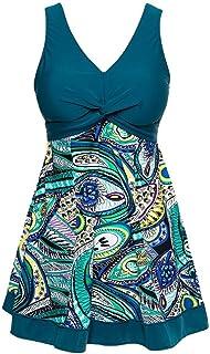 (アンココ)Angcoco Women's Swimwear Vintage One-piece Swimsuit Swimdress Plus Size