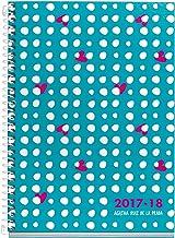 Agatha Ruiz de la Prada 273001 - Agenda escolar plus, 155 x 215 mm, semana a la vista, diseño cat lluvia lunares