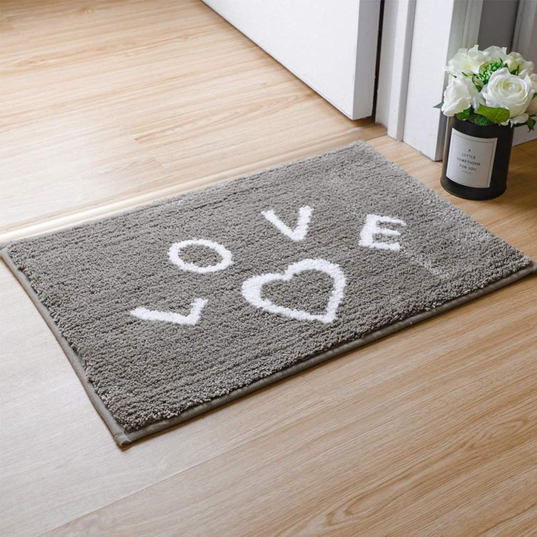 Door mat Floor mat - Mixed Non-Slip Latex Sole, Dense Fluff, Comfortable and Soft, Absorbent and Non-Slip, Nordic Household Bathroom Door Absorbent Non-Slip mat - 2 colors, 3